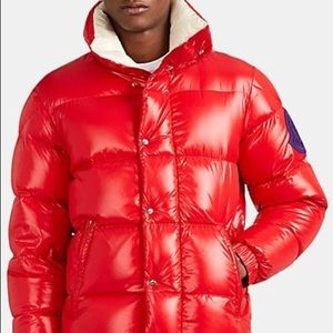 Moncler 2 1952 Dervaux Red Down Quiled Jacket NEW